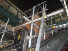 橋梁部材の二軸載荷実験準備