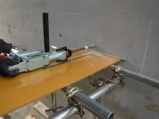 CFアンカーの性能確認試験(埋込部定着耐力試験)2