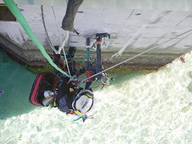 海洋に架橋されたコンクリート橋脚の調査・分析2